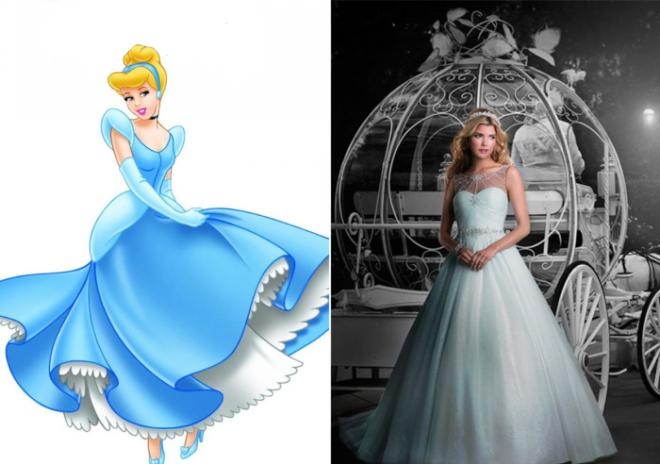 wedding dress in Disney character from designer Alfred Angelo