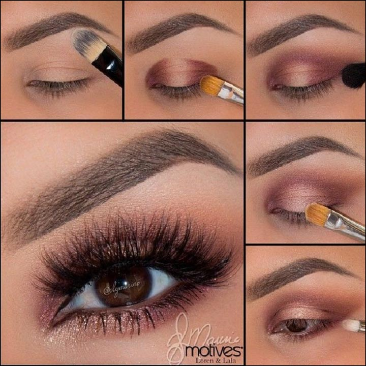 Bridal Eye Makeup Step by Step Tutorial using brush and cosmetics from Loren & Lala