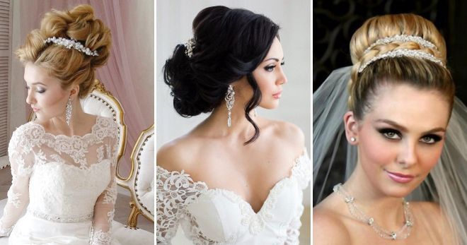 Assembled wedding hairstyles for long hair