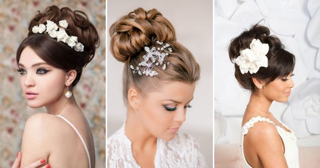 High wedding hairstyles for long hair