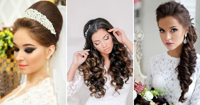 Fashionable wedding hairstyles for long hair