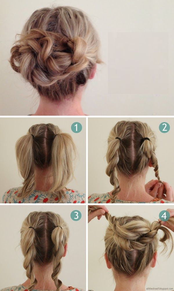 Make a beautiful braided knot in just 60 seconds Hairstyling Hacks for Lazy Girl