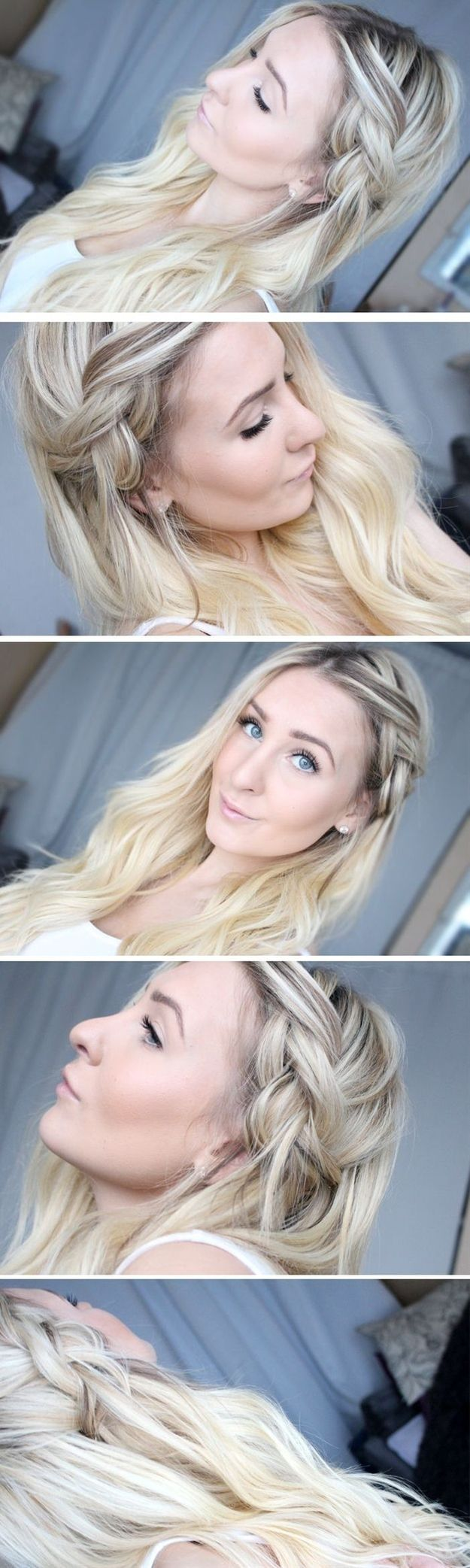 Such a side braid is excellent on dirty hair. Hairstyling Hacks for Lazy Girl