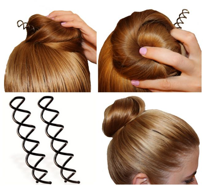 In order to fix the beam, use spiral studs Hairstyling Hacks for Lazy Girl