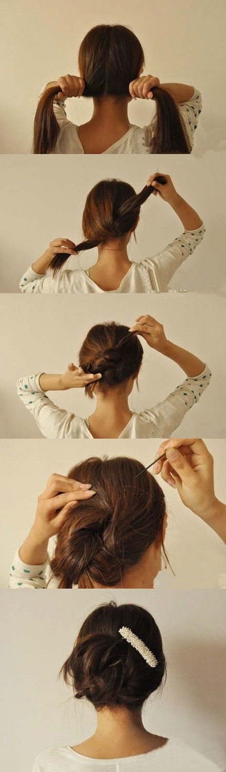 Node in 20 seconds. Hairstyling Hacks for Lazy Girl