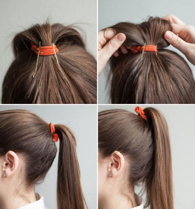 Make a magnificent tail with the help of two invisible ones Hairstyling Hacks for Lazy Girl