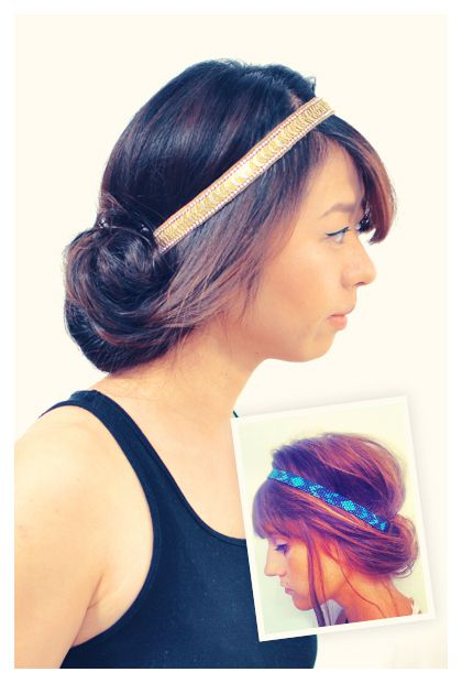 Turn the hair under the elastic band. Hairstyling Hacks for Lazy Girl