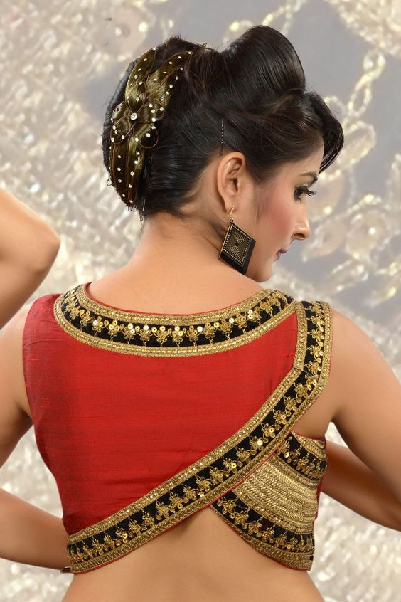 Asymmetrical blouse design: Latest Saree Blouse Designs collection for 2020