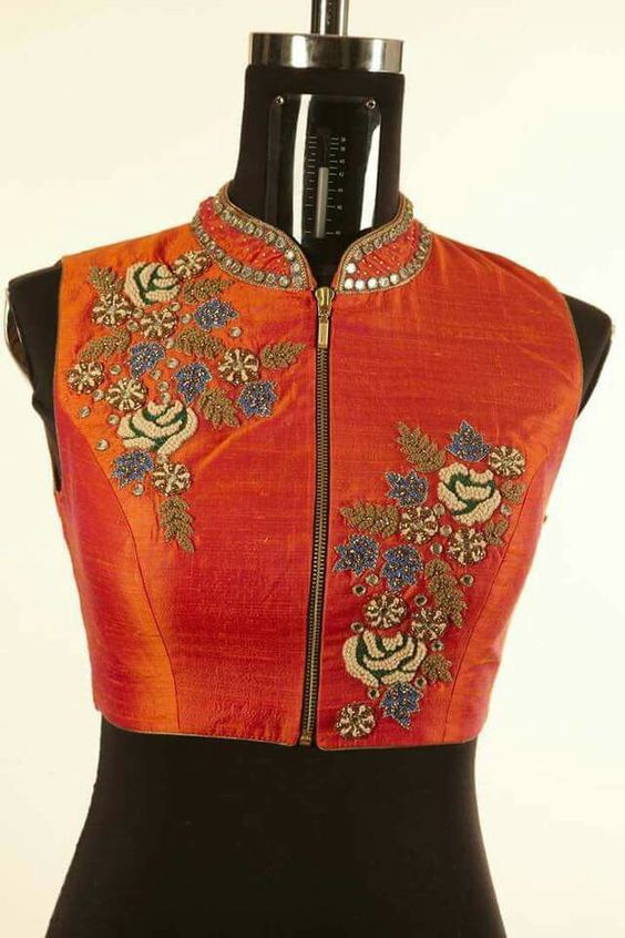 Zip blouse design: Latest Saree Blouse Designs collection for 2020