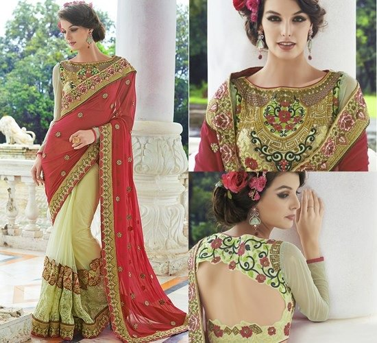 Heavily embroidered blouse design: Latest Saree Blouse Designs collection for 2020