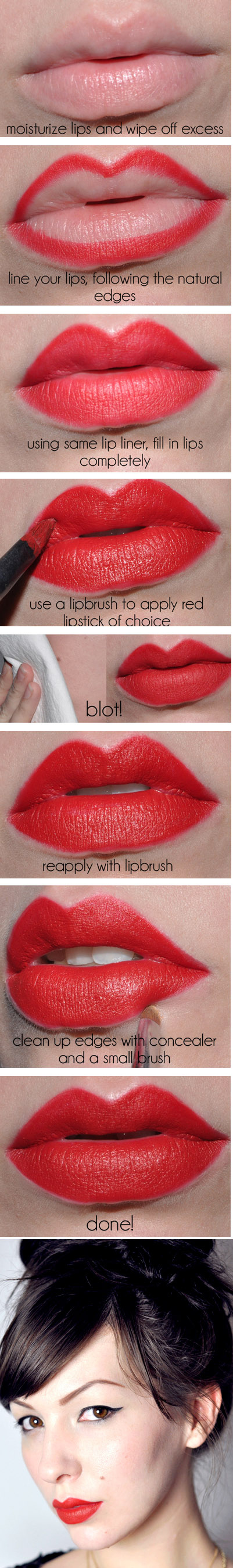 Vintage lips. Makeup Tutorial for Glamorous and Dramatic Holiday Looks