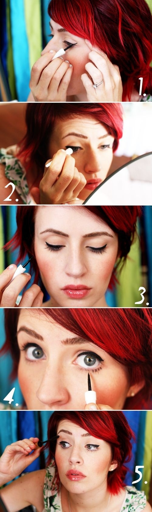 Make up in the style of Twiggy Makeup Tutorial for Glamorous and Dramatic Holiday Looks