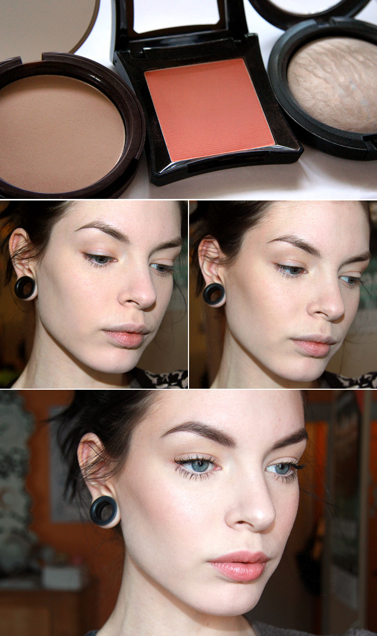 Learn how and where to apply shimmery highlighter  Expressive onions for eyes in green and gold tones