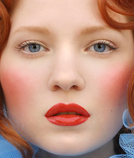 Makeup of a porcelain doll. Makeup Tutorial for Glamorous and Dramatic Holiday Looks