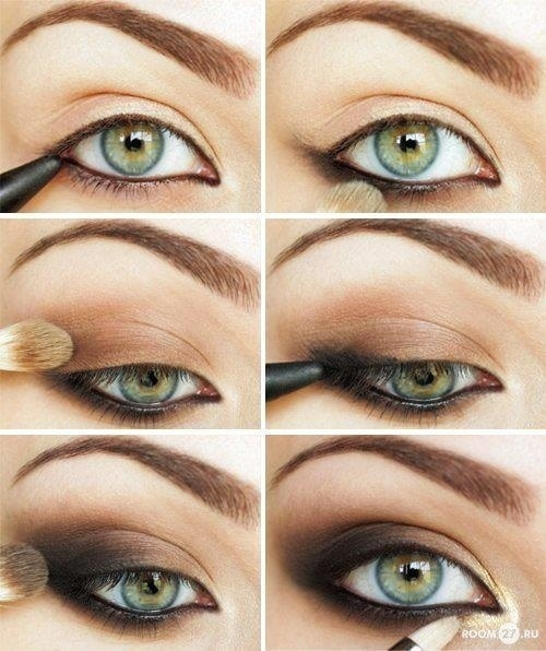 Dramatic make-up in gold tonesMakeup Tutorial for Glamorous and Dramatic Holiday Looks
