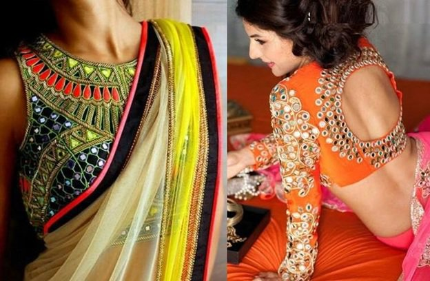 . Mirror work blouse design: Latest Saree Blouse Designs collection for 2020