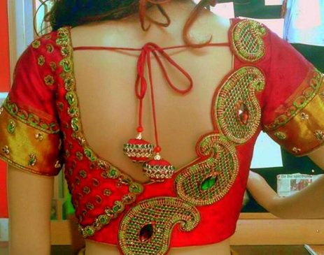 Paisley design blouse: Latest Saree Blouse Designs collection for 2020