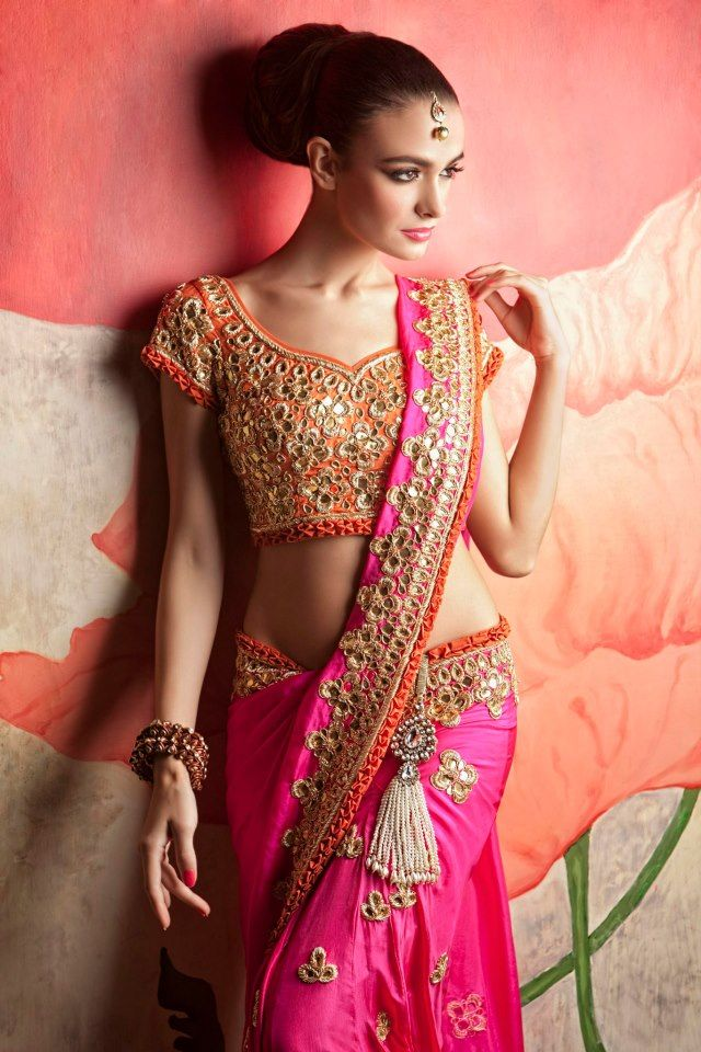 Embellished blouse design: Latest Saree Blouse Designs collection for 2020