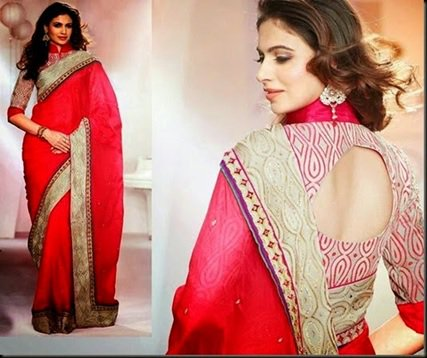 Glam cutout blouse design: Latest Saree Blouse Designs collection for 2020
