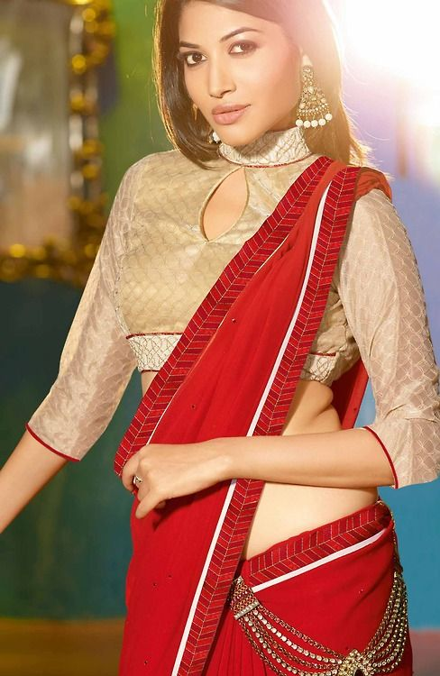 Eye cutout blouse design: Latest Saree Blouse Designs collection for 2020
