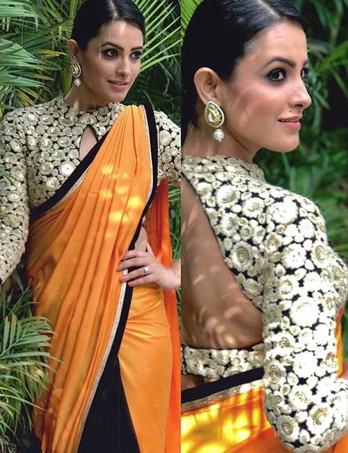 Heavily embroidered blouse design: Amazing and Latest Saree Blouse Designs for Wedding & Party