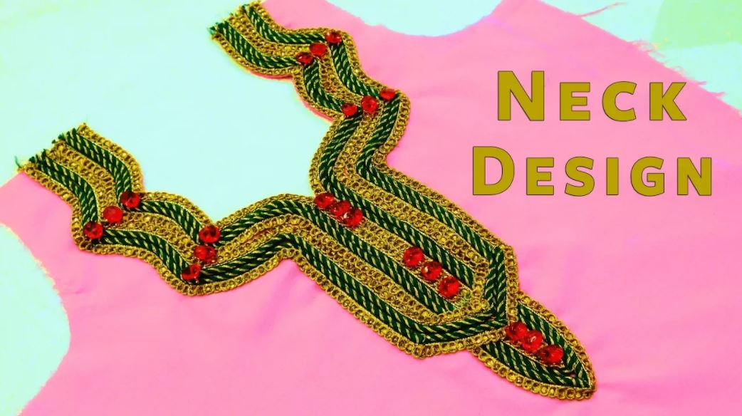 Easy Kurti Neck Design with Lace How to Decorate Kurti Front Neck