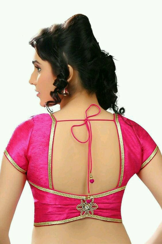 Pink silk blouse design Best Types Of Blouse Designs Patterns For Every Woman