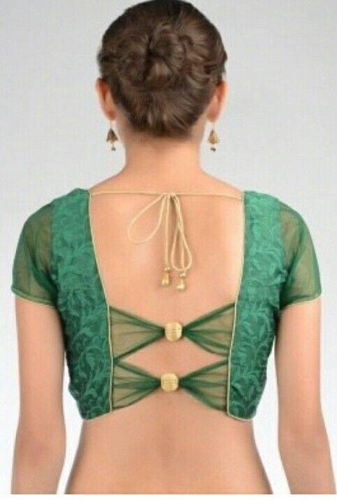 Back buttons blouse design: Best Types Of Blouse Designs Patterns For Every Woman