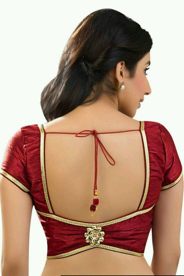 Square cutout blouse design Stylish and Trendy Blouse Back Neck Designs
