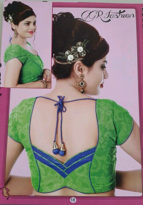 Green and blue blouse design: Best Types Of Blouse Designs Patterns For Every Woman