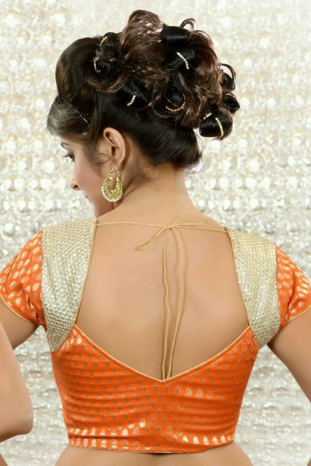 V-shaped blouse back neck design Stylish and Trendy Blouse Back Neck Designs