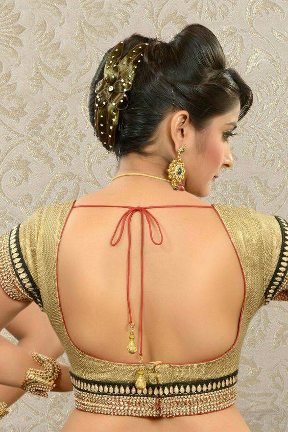 Almost backless blouse design: Best Types Of Blouse Designs Patterns For Every Woman