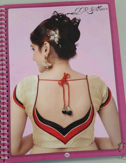 Red and Black blouse design: Best Types Of Blouse Designs Patterns For Every Woman