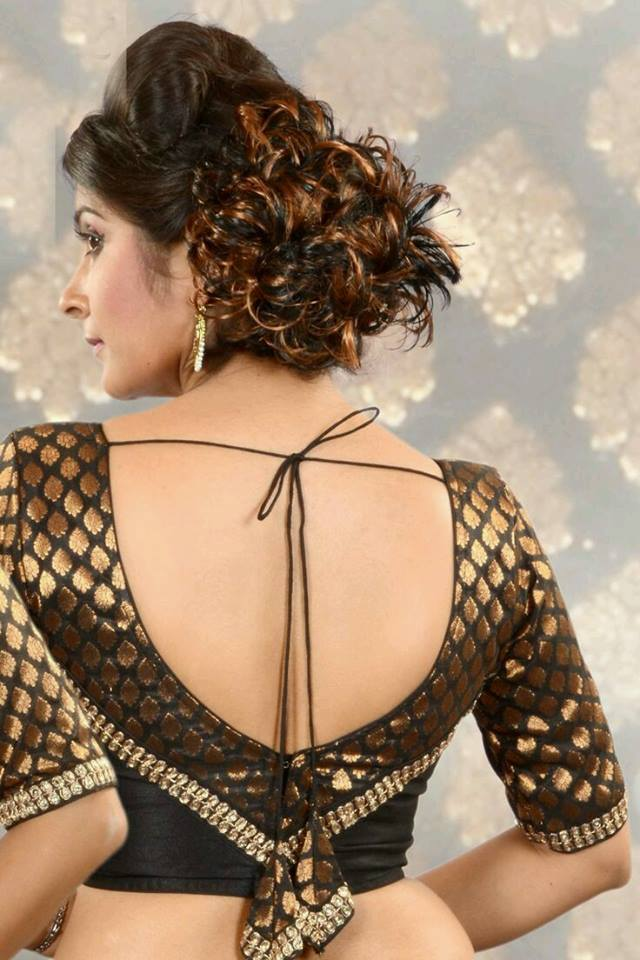 Almost backless blouse design Stylish and Trendy Blouse Back Neck Designs