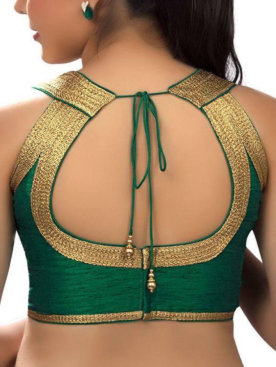 Glam circle blouse back neck design Stylish and Trendy Blouse Back Neck Designs