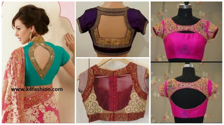 Simple And Stylish Blouse Back Neck Designs K4 Fashion