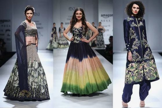 The Shades of Blue- Wedding style edit Summer Trends From Amazon Indian Fashion Week