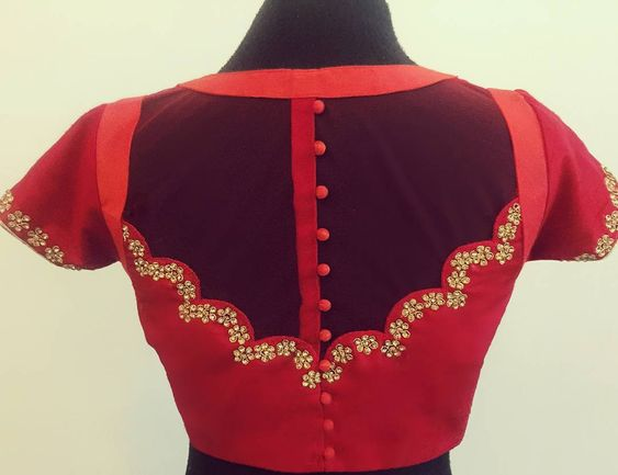 Back beads blouse design Latest Saree Blouse Back Designs for Modern Look