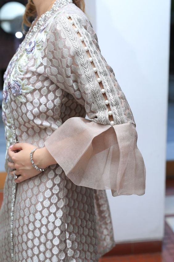 Bell sleeves for Kurta
