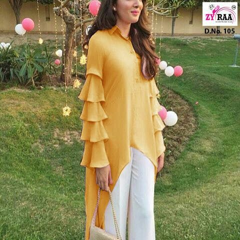 ruffled full sleeves for women Latest stylish sleeves designs for kurti kurta of women