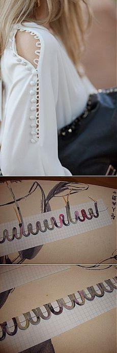 Designer Slit sleeve pattern