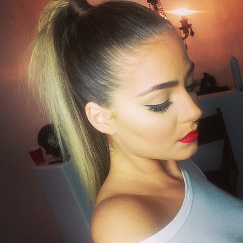 Quick Wrap Around High Pony Tail 5 Minutes Hairstyles For Office