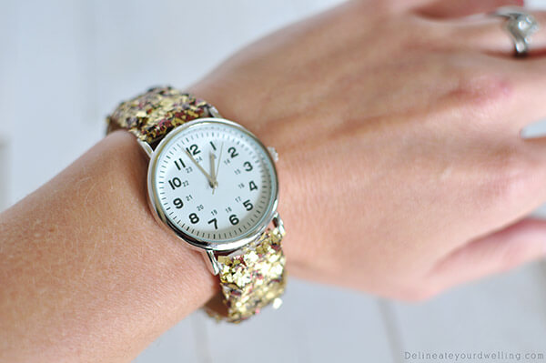 Glitter Watch DIY Glitter Fashion Trends To Try This Season