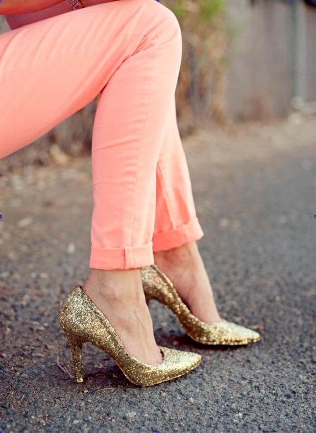 Glitter Heels DIY Glitter Fashion Trends To Try This Season