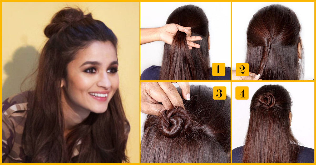 Because Half Bun Is A Solution 5 Minutes Hairstyles For Office