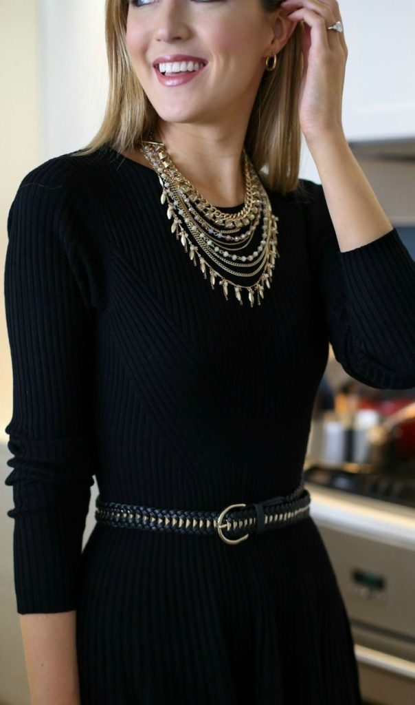 LBD + Statement Neck Piece Trending Ways To Style Indian Jewellery With Western Outfits