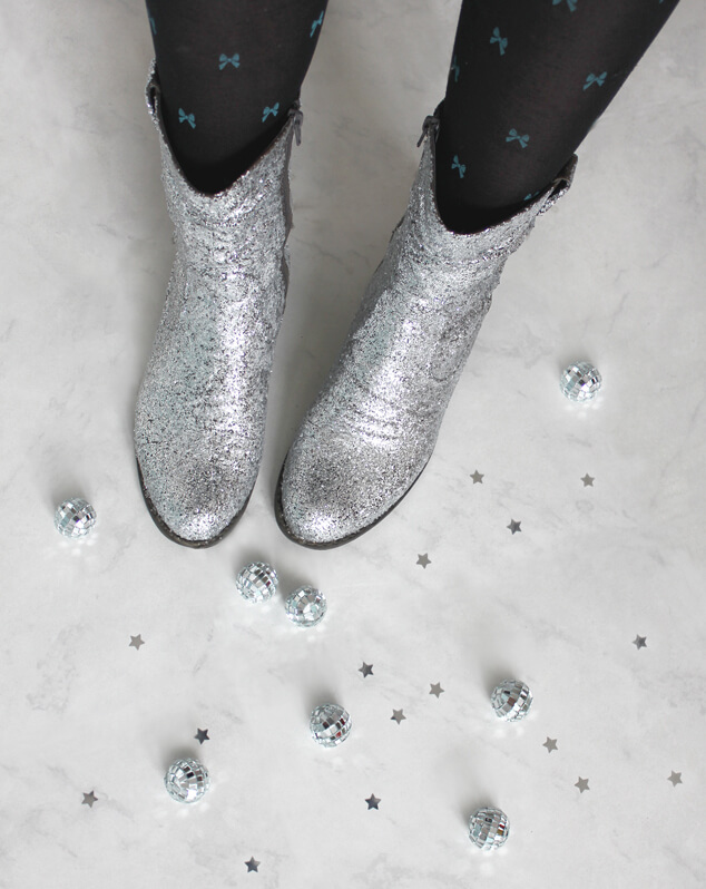 Glitter Boots DIY Glitter Fashion Trends To Try This Season