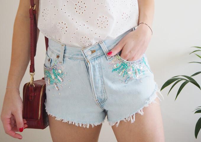 Glitter Gem Festival Shorts DIY Glitter Fashion Trends To Try This Season