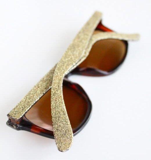 Glitter Sunglasses DIY Glitter Fashion Trends To Try This Season