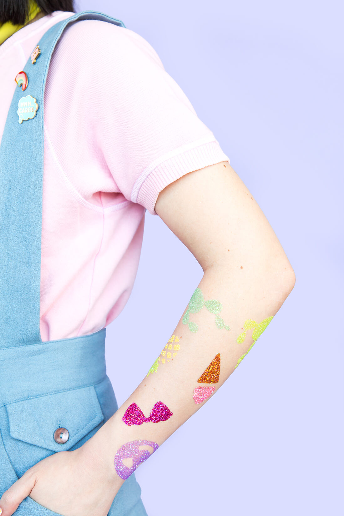 Glitter Temporary Tattoos DIY Glitter Fashion Trends To Try This Season